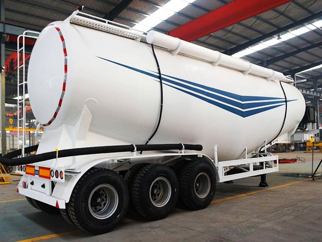 3 axles Bulk Cement Bulker Transporter Tank Tanker Semi Trailer For Sale