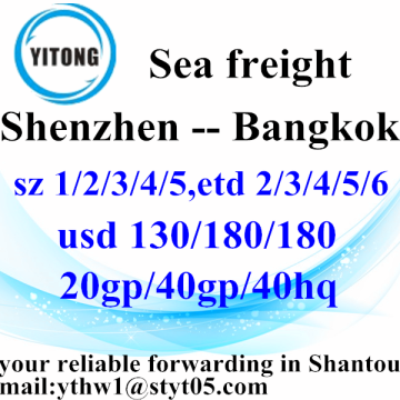 Shenzhen High Competitive Transportation Service to Bangkok