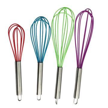 heat resistant silicone whisk set
