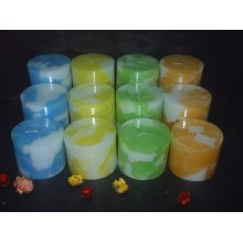 Premium Wax Rustic Layered Pillar Candle