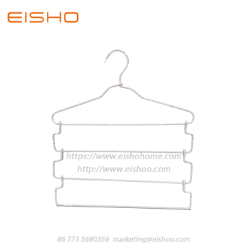 EISHO 4 Tier Braided Cord Hangers Diamond Pattern