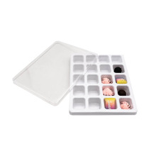 PET Small Square Blister Chocolate Candy Packaging Tray