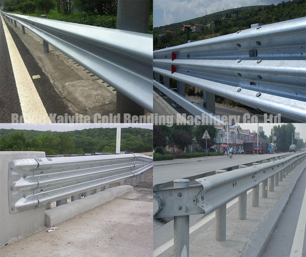 application of highway guardrail