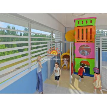 Children's Indoor Playground Tower With Tube For Sale