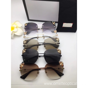 Classic Retro Oval Sunglasses For Female