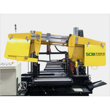 Double Column Band Sawing  Machine Beams Cutting