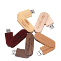 Swivel Wooden USB Flash Drive2.0 3.0