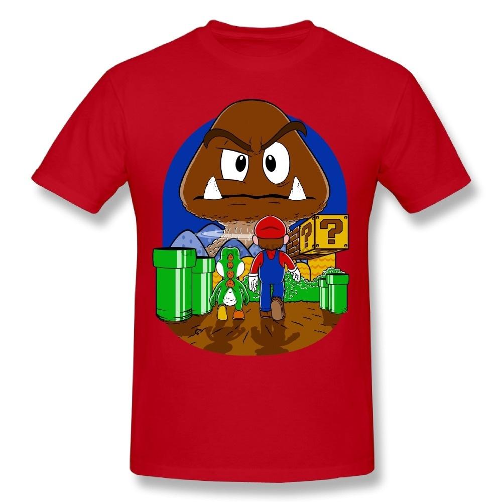 Classic Men Mushroom Mario T Shirt 100% Cotton Man Small Size T-Shirt(1)