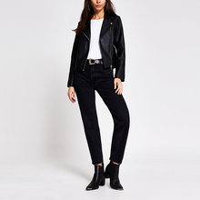 Autumn Fashion Black Classic Zipper Jacket