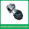 Sanitary pneumatic tank bottom diaphragm valve