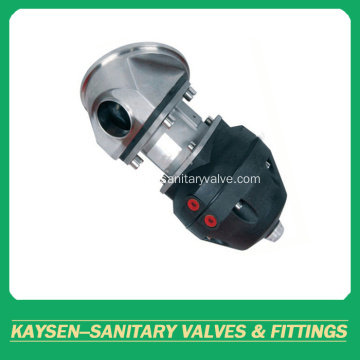 Food grade pneumatic tank bottom diaphragm valves