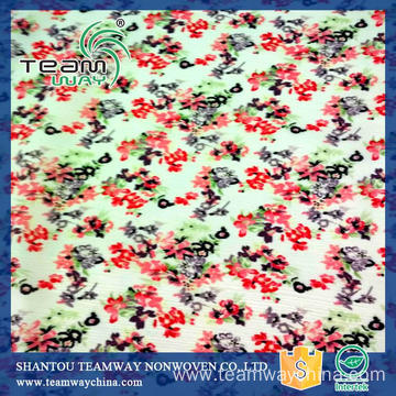 Polyester Printing Dress Fabric Flower Print Chiffon Fabrics