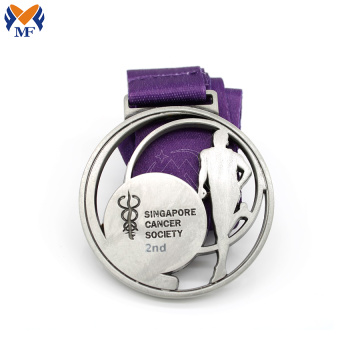 Customised metal medals singapore silver medal