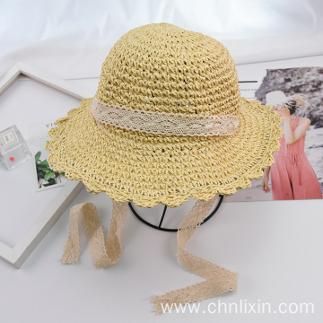 Baby bucket straw hat cosplay cute kitty ears