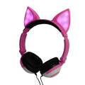 Cute Girls Party Fox Orelhas LED Fancy Headphone