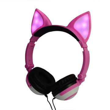 Bunter Kopfhörer Cosplay Fox Ear Wired Headphone