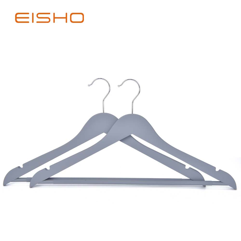 Eisho Solid Wood Black Laundry Wooden Shirts Hanger5