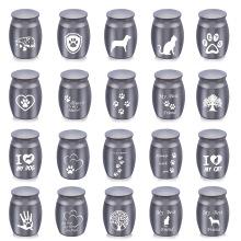 Black Aluminum Alloy Urn Pets Dog Cat Paw Print Tree of Life Cremation Ashes Urn Keepsake Casket Human Dog Memorials