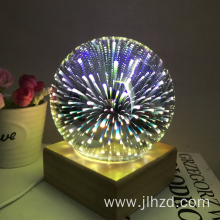 3D LED Colorful fire tree silver flower Light