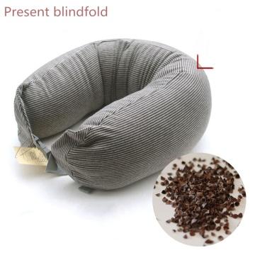 8 Style U Shape Neck Pillows Cotton Buckwheat Husk Cervical Protect Stripe Pillow Insomnia Healthcare Bedding Travel