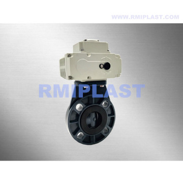 Electric PPH Butterfly Valve Wafer ANSI CL150