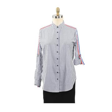 New Blouse Women Casual Striped Top Shirts Blouses