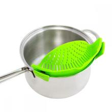 Silicone Clip-On Strain Strainer kitchen Food Strainers
