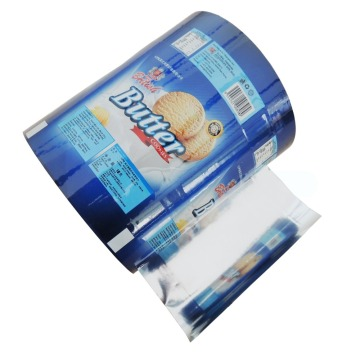 Plastic snack cake roll film packaging