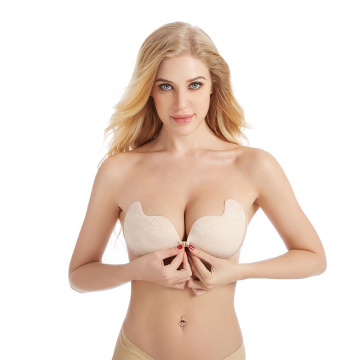 Silicone Bust Front Closure Invisible Strapless Bra