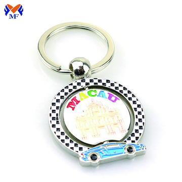 Spinning Custom Manufactured Metal Cool Keychains