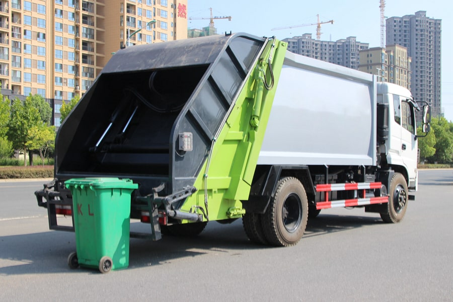 Truck Of Waste Management Factory