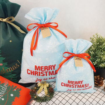 Light Blue Christmas Treat Bags Kids