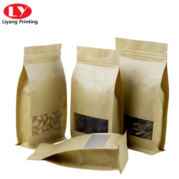 Customized packaging kraft  food bags with window