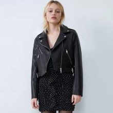 Women Slim Punk Leather Coat