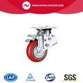 "5"" 6"" 8"" PU spring loaded casters for Automobile industry"