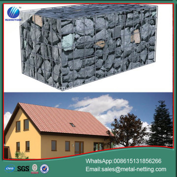 welded gabion wall flood control gabons