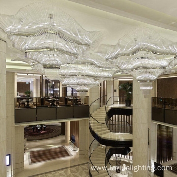 Fashion large design banquet lobby crystal chandelier light