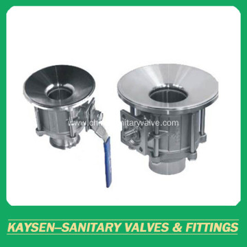 DIN Sanitary 3PC clamped tank bottom ball valves