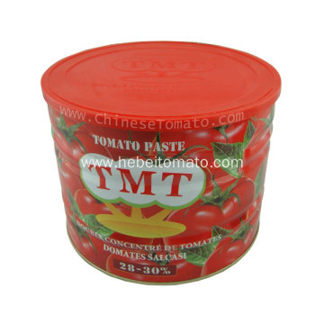 Double concentrated tomato paste from machine
