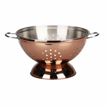 Stainless  SteelCopper Colander With Comfortable Handle