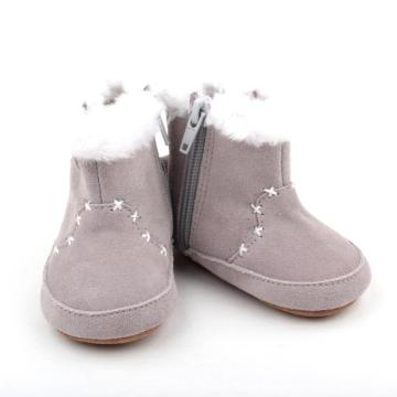 2018 Wholesale Winter Plush Newborn Baby Half Boots