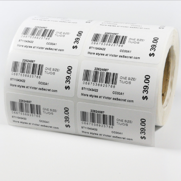 Custom Printed Self Adhesive Paper Label Barcode Sticker