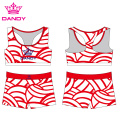 New Pattern Sublimated Little Girl Cheerleading Uniforms