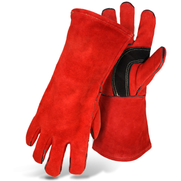 Strengthened Welding Heat Resistant Leather Gloves