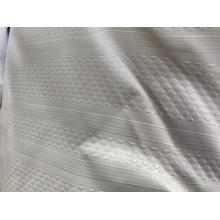 Polyester white emboss fabric