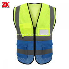 100% polyester reflective safety vest with pockets