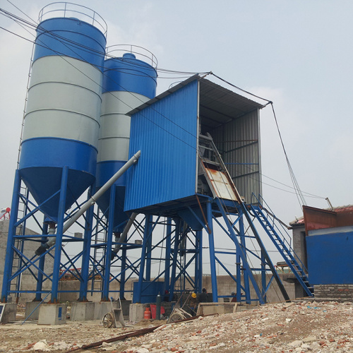 Small precast HZS25 concrete batching plant price medium