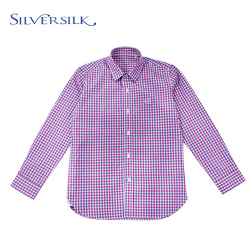 2020 Customized Plaid Top Blouse Teen Boys Shirts
