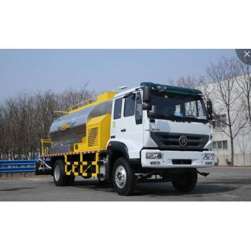 Asphalt distributor truck for road construction