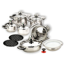 Stainless Steel Wide Edge Cookware Set SS lid